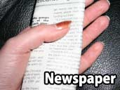 Newspaper - a suitable substrate for Royal Pythons